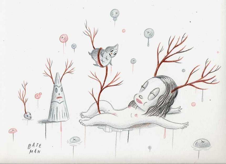 """Venison's Hopes and Dreams – Colored pencil on paper, 2006, 9"""" x 12"""""""