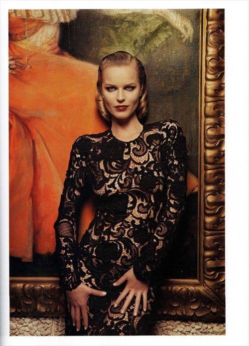 Vogue Paris November 2008 Photographer M. Sorrenti Style by Emmanuelle Alt Models- Eva Herzigova